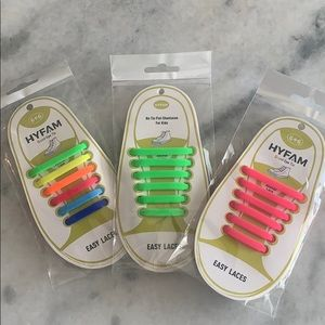 Other - New! No tie shoelaces kids 3 pairs